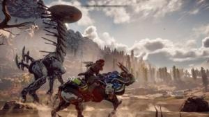 Horizon Zero Dawn schickt Aloy in eine Art Hightech-Steinzeit.