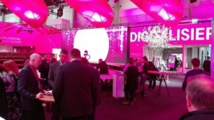 Messestand der Telekom