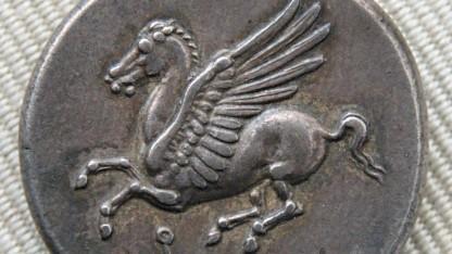 Pegasus auf einer Münze