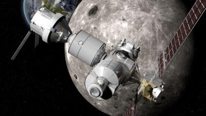 Deep Space Gateway: Skylab bestand aus einer Stufe einer Saturn-Rakete.