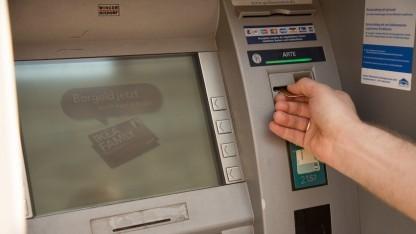 Ein Geldautomat.