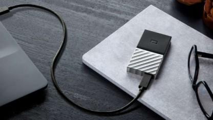 Die WD-Passport-SSD ist eine sehr kleine externe Festplatte.