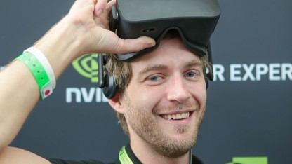 Dominic Eskofier spricht auf dem Tech Summit über VR.
