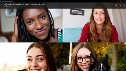 Die neue Version von Skype passt die Ansicht in Videokonferenzen an.
