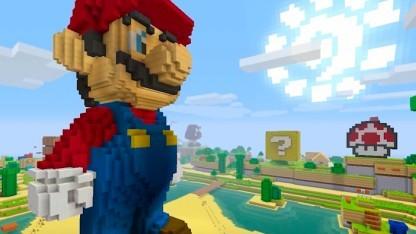 Super-Mario-Statue in Minecraft für Nintendo Switch