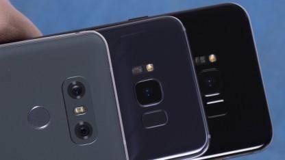 Das LG G6, das Galaxy S8 und das Galaxy S8+