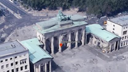 Google Earth zeigt Sehenswürdigkeiten weiterhin dreidimensional.