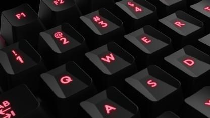 Die G413 mit den speziellen Gamer-Tastaturkappen