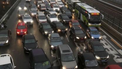 Der Verkehr in Peking stellt selbstfahrende Autos vor besondere Herausforderungen.