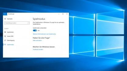 Spielmodus von Windows 10 ausprobiert