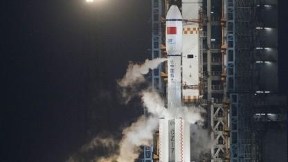 Langer-Marsch-Trägerrakete mit Raumfrachter Tianzhou 1: Drei Andockmanöver sind geplant.