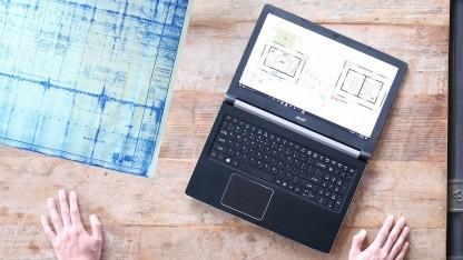 Alle neuen Aspire-Notebooks haben ein 180-Grad-Scharnier.