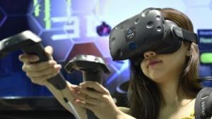 HTC Vive im Einsatz auf einer Messe in Asien
