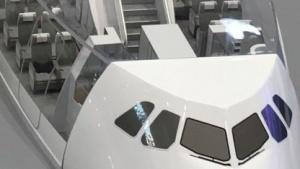 Elf Plätze passen nebeneinander in einen Airbus A380.