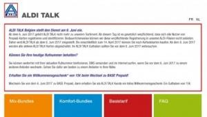 Aldi-Talk-Kunden in Belgien können bald nicht mehr telefonieren.