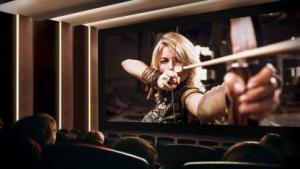 Samsungs Cinema Screen ermöglicht ein Kino ohne Projektor.