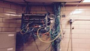 Über diesen Switch gelangten die Insassen ins Netz.