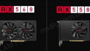Radeon RX 560 und Radeon RX 550