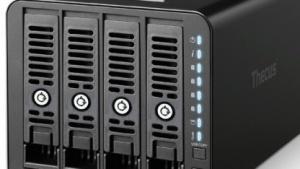 Ein Festplattensystem mit vier Plätzen bietet unterschiedliche RAID-Optionen (Bild: Thecus)., RAID