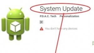 Die Malware tarnt sich als System-Update.