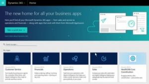 Über das Dashboard kann auf Dynamics-365-Apps zugegriffen werden.