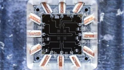 Ein supraleitendes Transmon Qubit