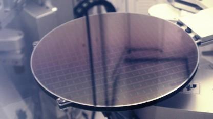 Ein Wafer mit DRAM-Chips