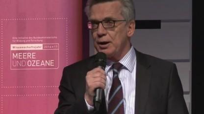 Bundesinnenminister Thomas de Maizière (CDU) auf der Re:publica 2017