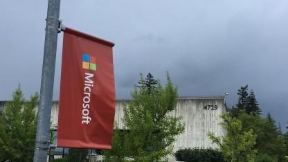 Fotos von außen waren erlaubt: Microsofts Building 87.