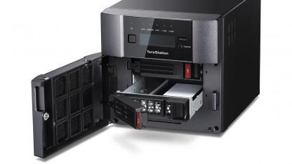 Buffalos neues NAS wird mit SSDs ausgeliefert.