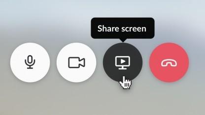 Slack Screen Sharing ist über die Videokonferenzfunktion erreichbar.