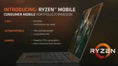 Ryzen Mobile erscheint im zweiten Halbjahr 2017.