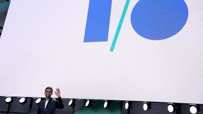 Google-Chef Sundar Pichai auf der Keynote der Google I/O 2017