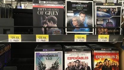 UHD-Blu-rays bei einem Walmart in den USA