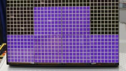 Beispielfarben des E-Paper-Displays auf EFD-Basis