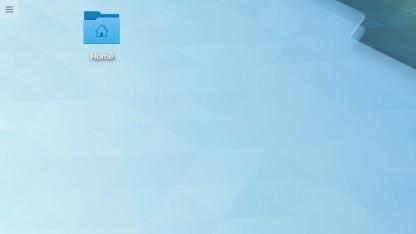 Auf dem Plasma-Desktop lassen sich standardmäßig wieder Ordner ablegen.