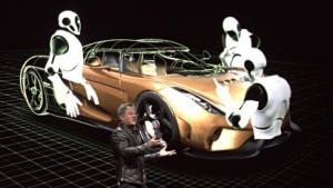 Nvidia-Chef Jen-Hsun Huang zeigt Project Holodeck.
