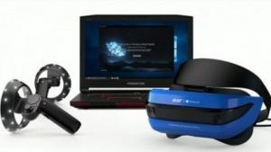 Acers Mixed-Reality-Set arbeitet mit einer VR-Brille.