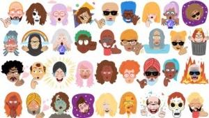 Beispiele für die neuen Sticker in Allo