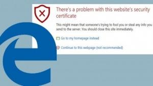 Microsoft Edge blockiert seit neuestem SHA-1-Zertifikate.