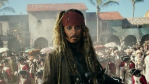 Johnny Depp als Jack Sparrow in Fluch der Karibik 5