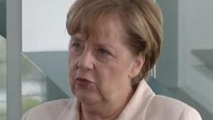 Bundeskanzlerin Angela Merkel in ihrer Videobotschaft