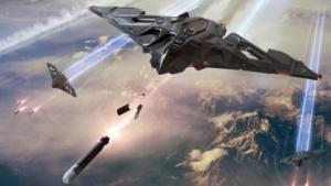 Artwork des Tarnkappen-Raumschiffs Aegis Eclipse LTI