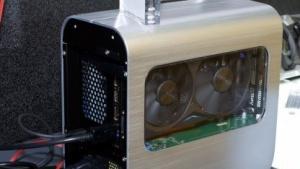Kleinere, aber leistungsfähige Grafikkarten passen in Zotacs neue externe Thunderbolt-Box.