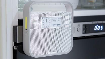 Der Triby-Lautsprecher von Invoxia läuft mit Alexa.