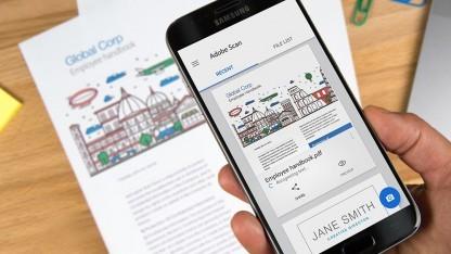 Adobe Scan nutzt die Smartphonekamera zum Scannen