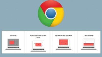 Chrome soll ab 2018 nervige Werbung blocken.