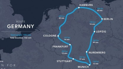 Thumbnail for Hyperloop Global Challenge: Hyperloop One stellt Trassenkonzepte für Europa vor - Golem.de