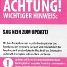 Nachfülltinte: Tintenmarkt.de warnt Nutzer vor Sicherheitsupdates