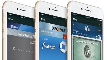 Apple Pay mit hinterlegten Kreditkarten.